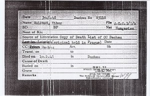 Waldmann Tibor Dachau karton